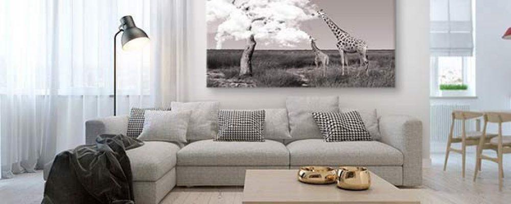 Décorer un salon avec un tableau décoratif