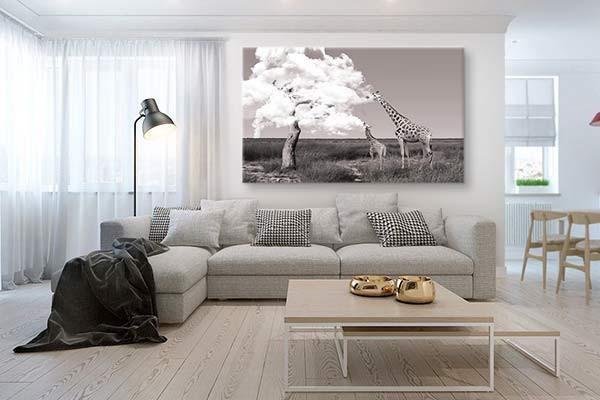 D corer un salon avec un tableau d coratif annuaire - Decorer un salon ...